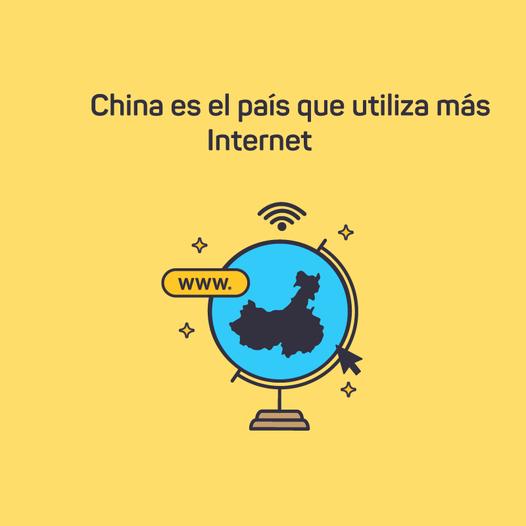 DATO CURIOSO | China es el país que utiliza más Internet.  El primero es China…